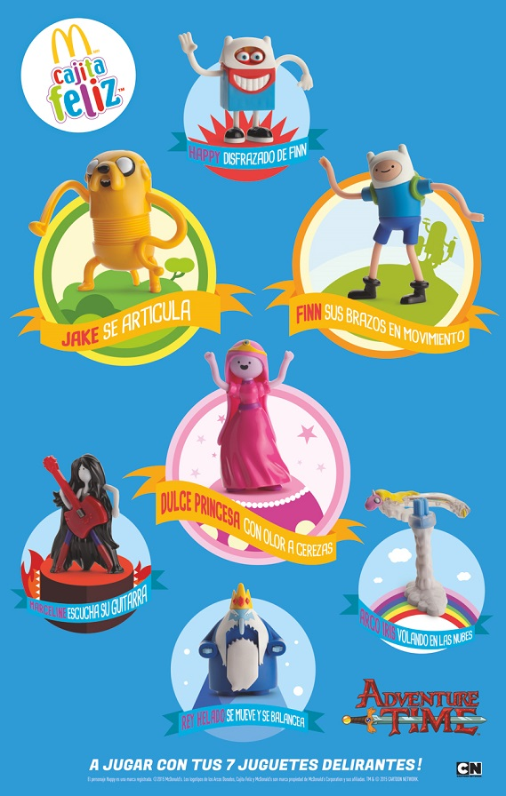 Folleto juguetes de Adventure Time
